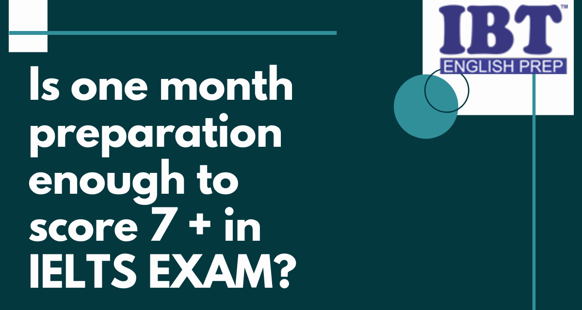 How to prepare for IELTS in one month?